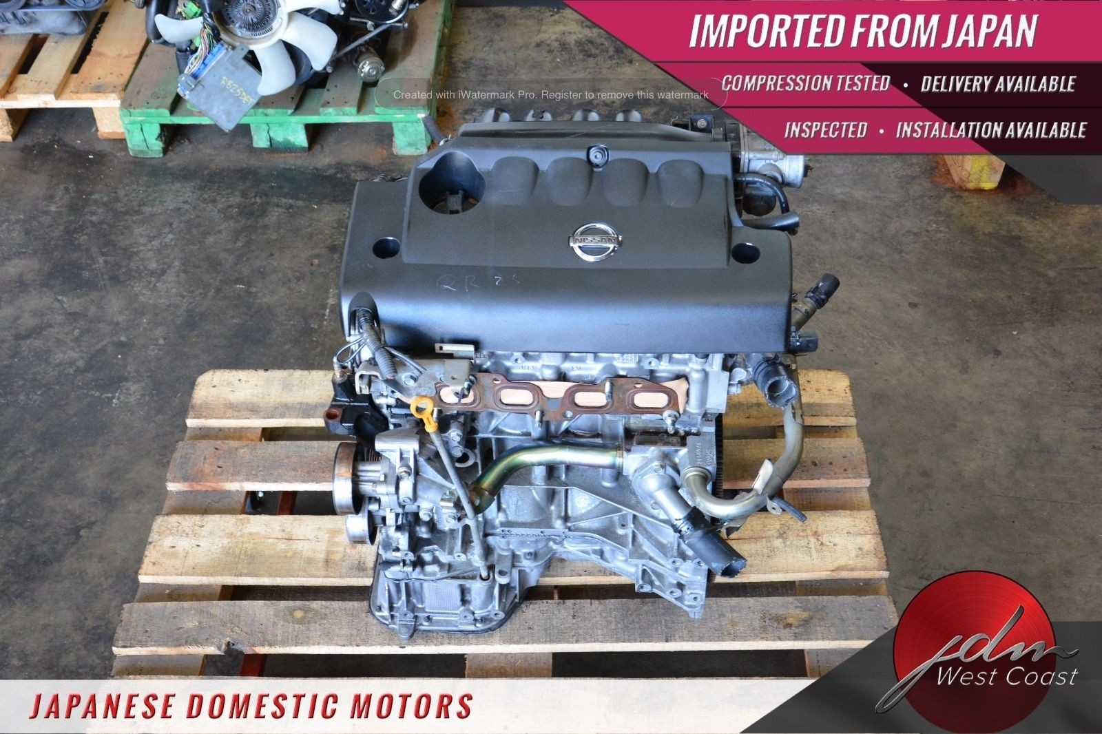 JDM Nissan Altima QR25DE Engine 02 03 04 05 06 Qr25 2.5L Sentra SE-R 4CYL QR25