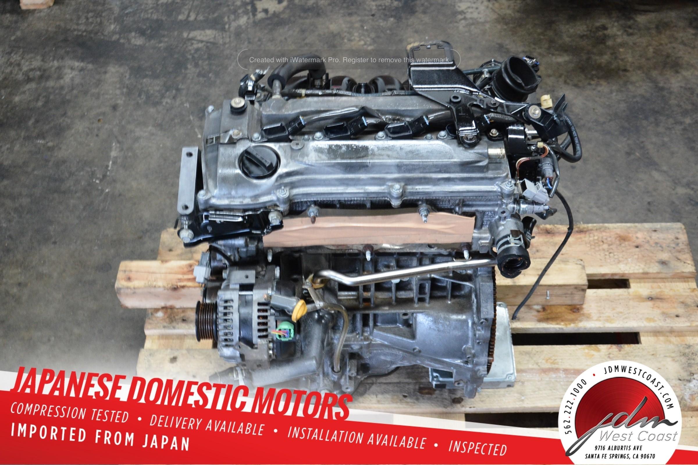 JDM 2AZ Toyota Camry, Scion tC, Toyota RAV4, Highlander 2.4L 4 cylinder engine