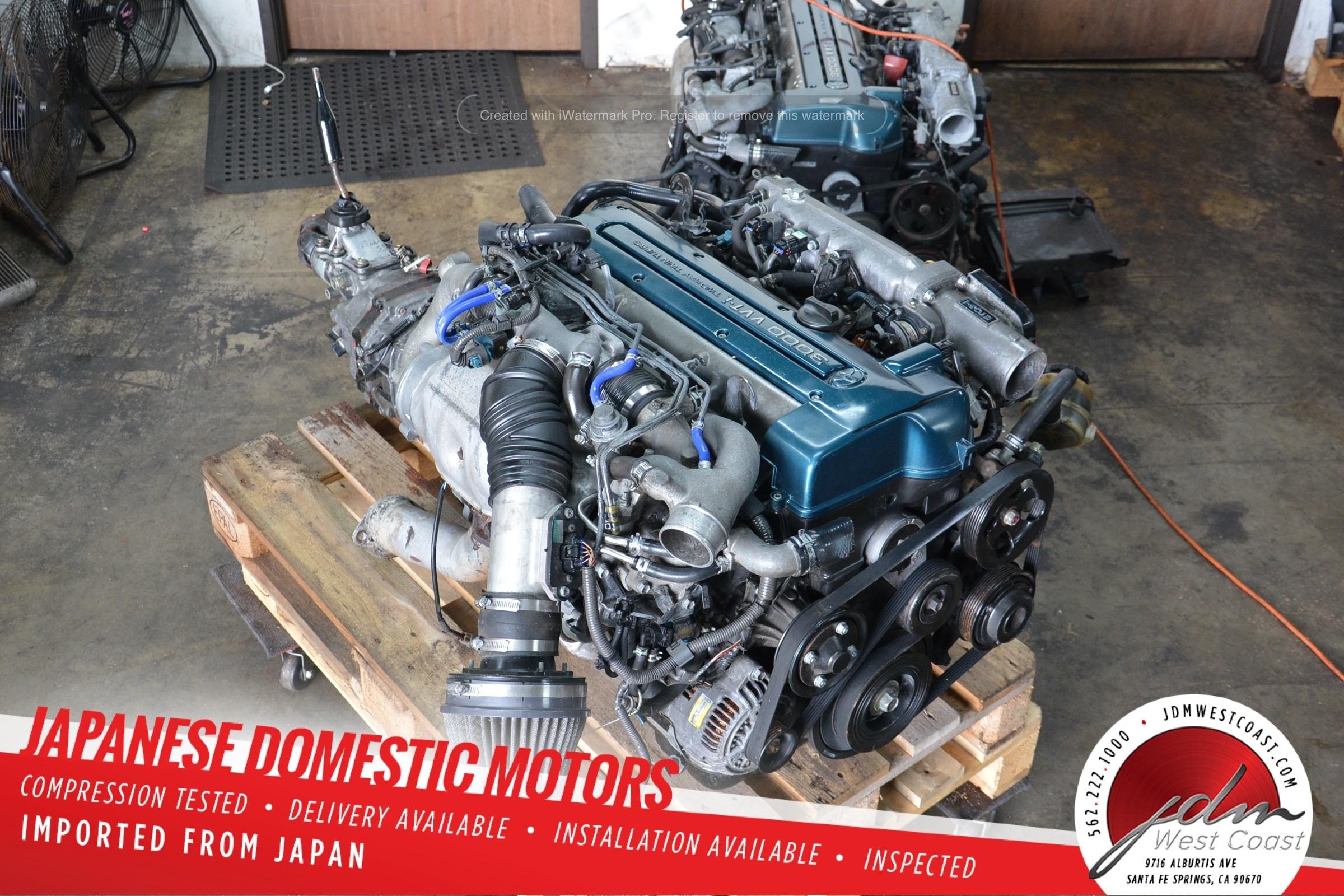 2JZGTE R154 MT 5 SPEED JDM Toyota Aristo IS300 Engine 2jz TwinTurbo VVT-i 3.0L