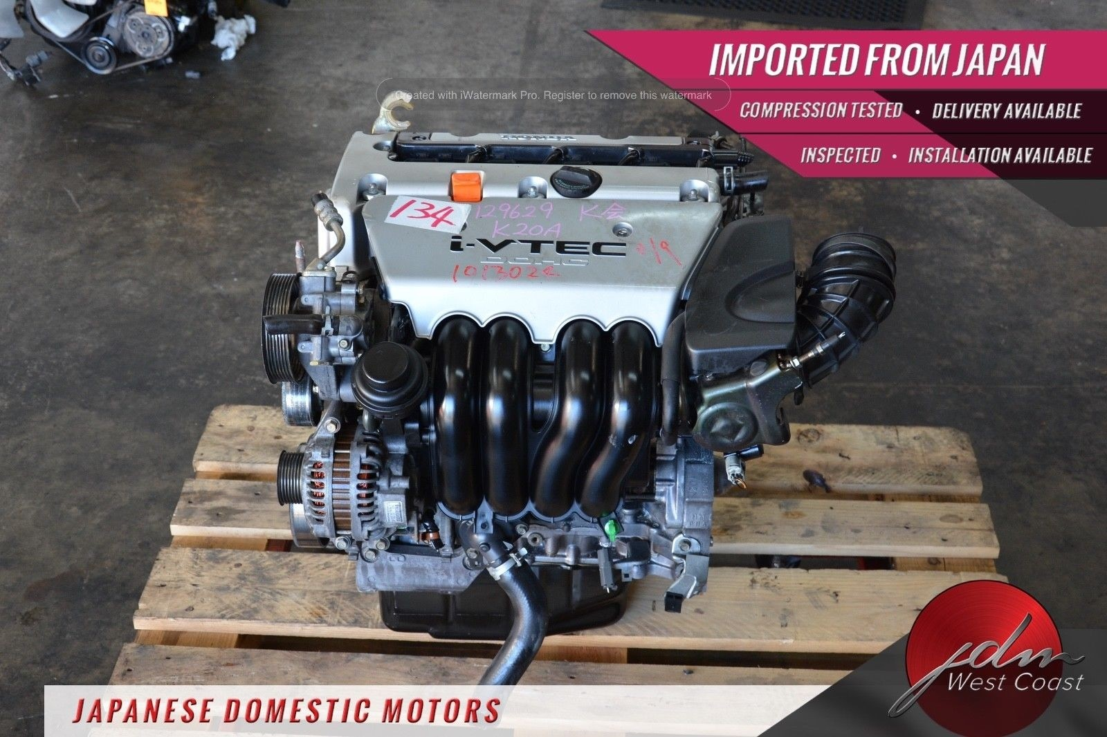 JDM Honda K20a Engine 2.0L Acura Rsx Base 02-04 DOHC Civic Si EP3 02-05 I-VTEC