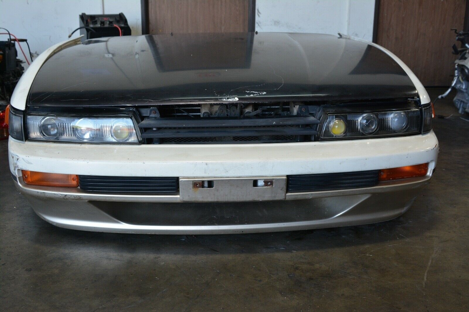 Nissan Silvia S13 Nose Cut Hood Bumper Head Lights Grill Nissan Silvia S13 Nose Cut Fenders Minor Scratches Rust Normal Wear And Tear Please Review Each Picture What You See Is What You